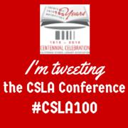 I'm tweeting #CSLA100